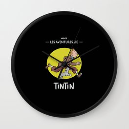 Tintin Run Wall Clock