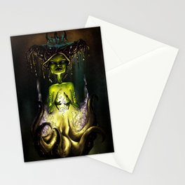 Octopus Voodoo Witch Stationery Cards