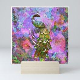 Peacock Watercolor Mini Art Print