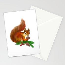 Cute squirrel art Stationery Cards