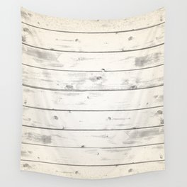 Light Natural Wood Texture Wall Tapestry