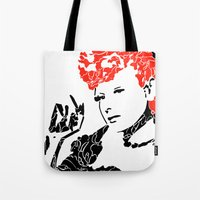 lucy Tote Bags featuring Lucy by Rucifer
