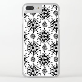 Star Snow Flake Mehndi Henna Clear iPhone Case