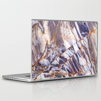 white marble Laptop & iPad Skins featuring Marble by Patterns and Textures