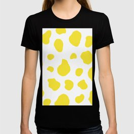 Yellow Cow Print Background T-shirt