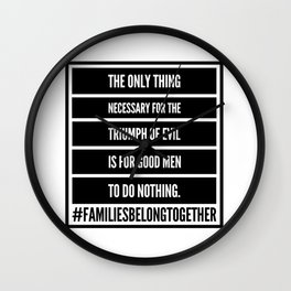 The Only Thing Necessary Wall Clock