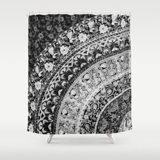 Ditsy Greyscale Shower Curtain