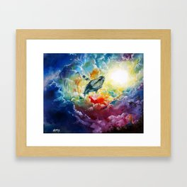 Majestic Whale Framed Art Print