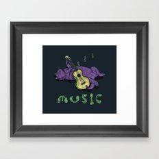 Ukulele Cat Framed Art Print