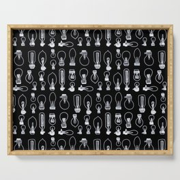 Bulbs in Black and white Serving Tray