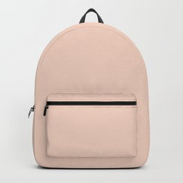 A Touch Of Peach Light - Pastel Solid Color matching my best sellers Backpack
