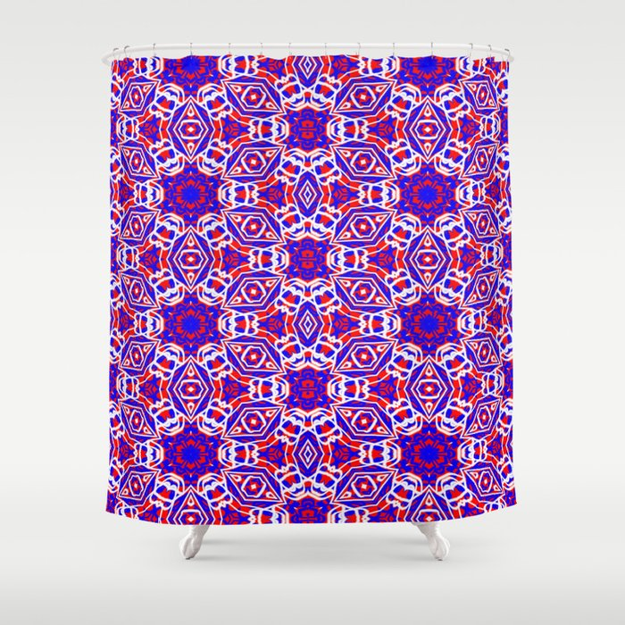 Red White And Blue Diamonds 242 Shower Curtain