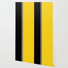 Greek Key 2 - Yellow and Black Wallpaper