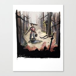Samurai: finders, keepers Canvas Print