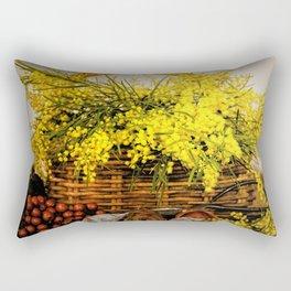 Golden Wattle Rectangular Pillow