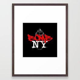 BOMB NY Framed Art Print
