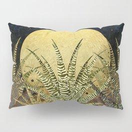 """""""Golden aloe Zebra midnight sun"""" Pillow Sham"""