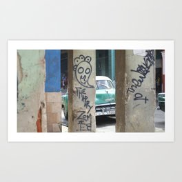 Cuban Streetart - The Happy Therapy Zombie Art Print