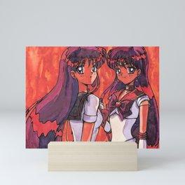 Rei Hino aka Sailor Mars Mini Art Print