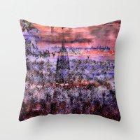 metropolis Throw Pillows featuring Metropolis by Jean-François Dupuis