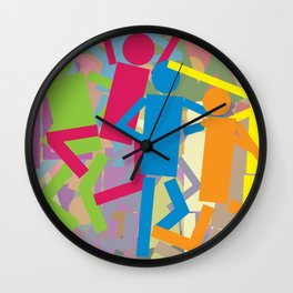 Miss Shapes Wall Clock
