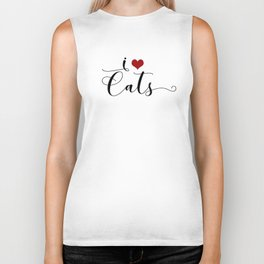 I Heart Cats featuring Spring 2017 Pantone Color Hazelnut Biker Tank