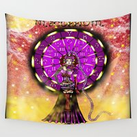 scorpio Wall Tapestries featuring Scorpio by Lady Amethystine