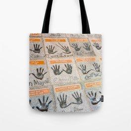 Hollywood hands Tote Bag