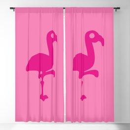 Pink Simple Flamingo Blackout Curtain