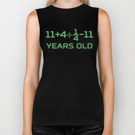 16 Years Old Math Equation Funny 16th Birthday Biker Tank