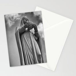 Virgin Mary situated in front of the Notre Dame Cathedral in Ho Chi Minh City, Vietnam. Stationery Cards