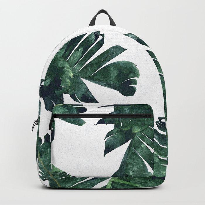Banana Leaf Watercolor #society6 #buy #decor Backpack