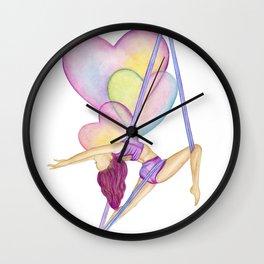 Aerial Hammock, Heart Opener, Back Bend Wall Clock