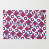 patriotic Canvas Prints featuring Patriotic  by Meaghan Monroe