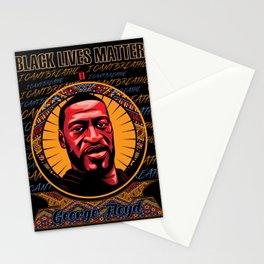 """George Floyd """"I can't breathe"""" Portrait Stationery Cards"""