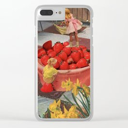 Picnic Clear iPhone Case