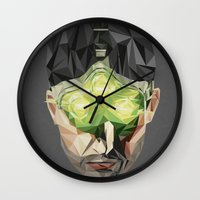 video games Wall Clocks featuring Triangles Video Games Heroes - Sam Fisher by s2lart