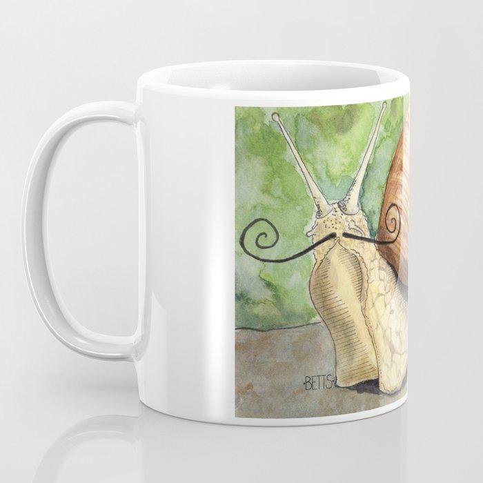 Snail 'Stache Coffee Mug