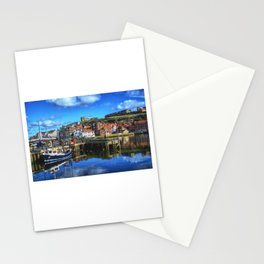 Whitby Harbour Blue  Stationery Cards