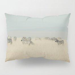 zebras in the morning light Pillow Sham
