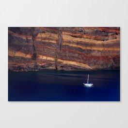 Sea boat vulcanic island Madeira Canvas Print