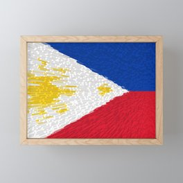 Extruded flag of the Philippines Framed Mini Art Print
