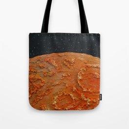 Mars / Mixed Media Painting Tote Bag