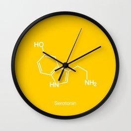Serotonin Molecule Wall Clock