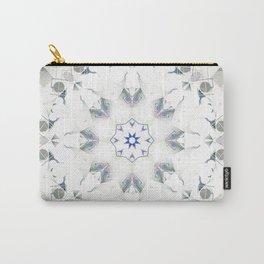 Sage White Bohemian Mandala Carry-All Pouch