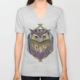 Poorly Camouflaged Owl Unisex V-Neck