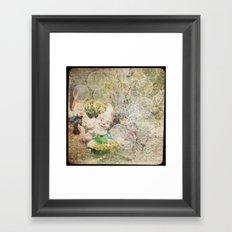 Dans mon jardin Framed Art Print