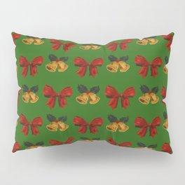 Christmas Vintage Holiday Gold Bells Ribbon Party Pillow Sham