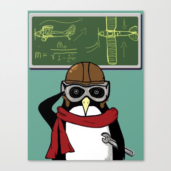 Little Penguin, Big Plans Canvas Print