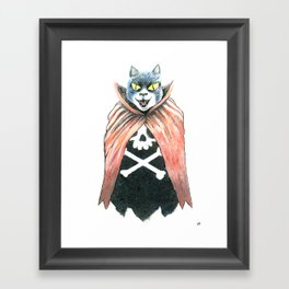Cat Cape Framed Art Print